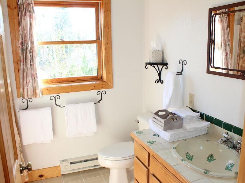 Bovenste badkamer met douche / bad