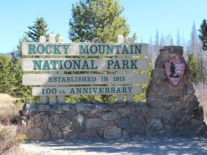 Nationaal Park Rocky Mountain is 1 mijl afstand