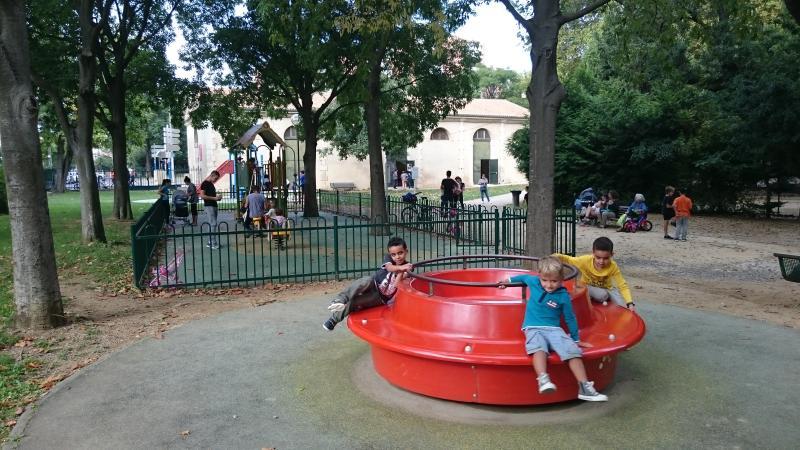 le parc Rimbaud de jeux pour enfants