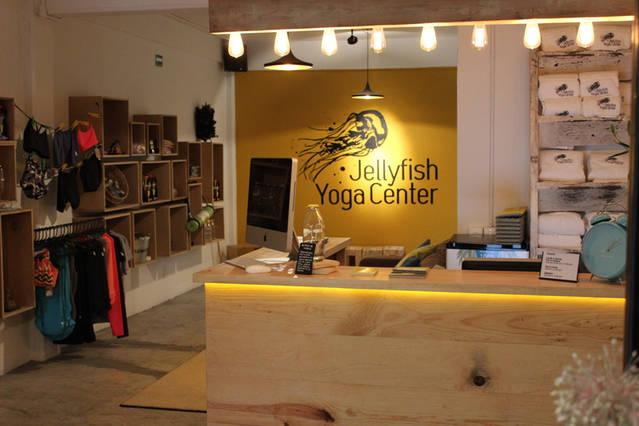 Jellyfish Hot Yoga Center. Located within the property.