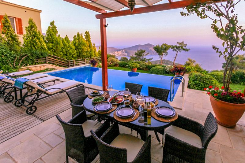 Enjoy your meals outside with this stunning view