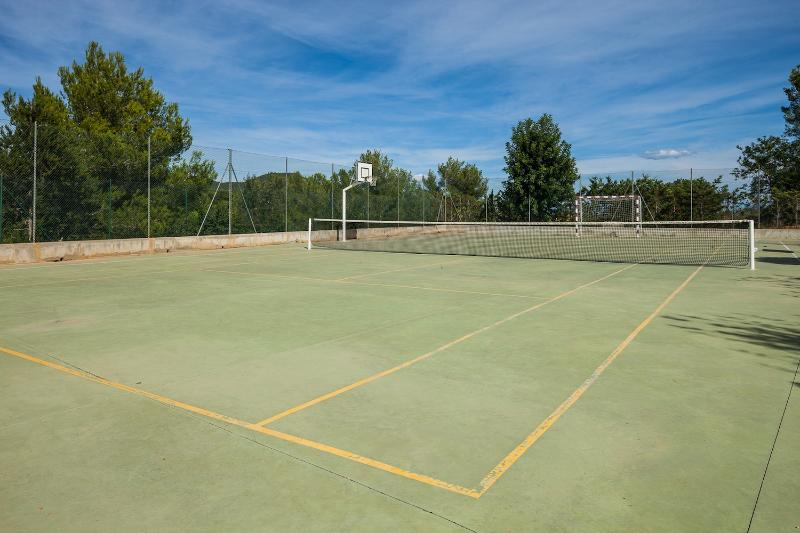 Work up a sweat on your own private tennis court!
