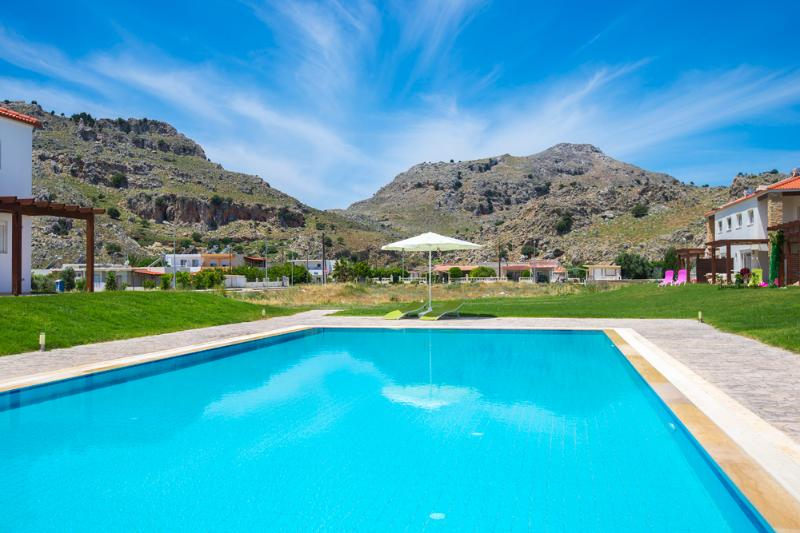 The swimming pool with mountain views