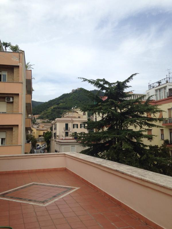Vista dalla Terrazza/Terrace view on the Castle Arechi