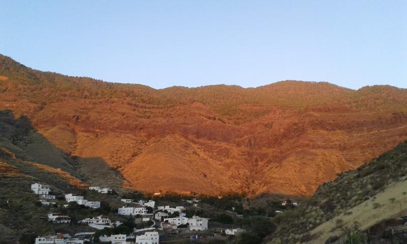 vue depuis la terrasse de vacances Atirma