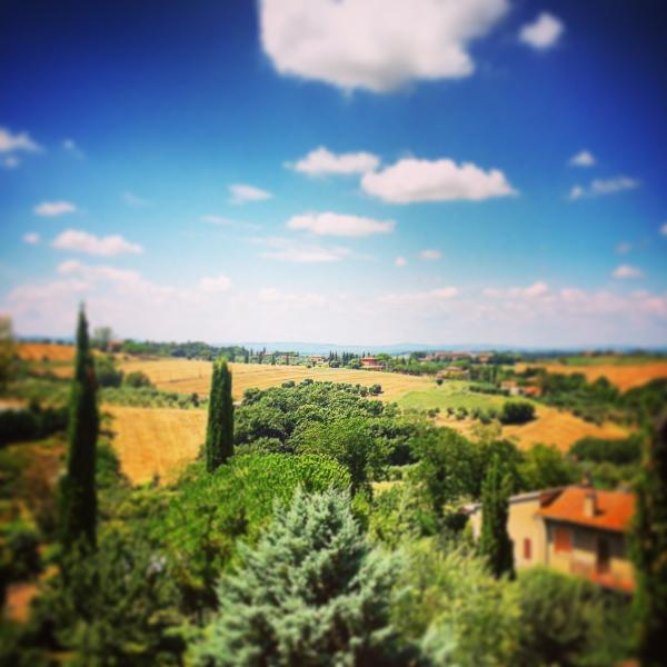 Gorgeous views over Tuscany