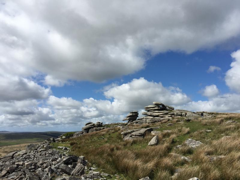 The Cheesewring on Bodmin Moor.