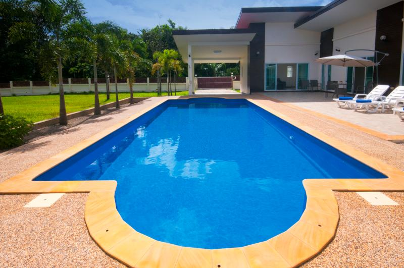 11*4 metre swimming pool. Great size for all to enjoy in complete privacy. Secure gated property.