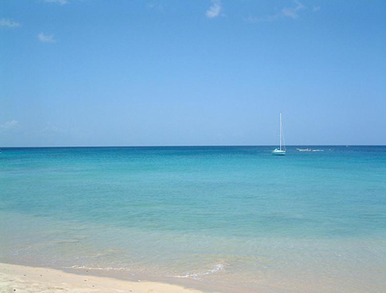 Playa frente a las Villas