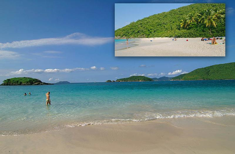 Cinnamon Bay beach, Villa Peace & Plenty's neighborhood beach is a 5 minute drive.