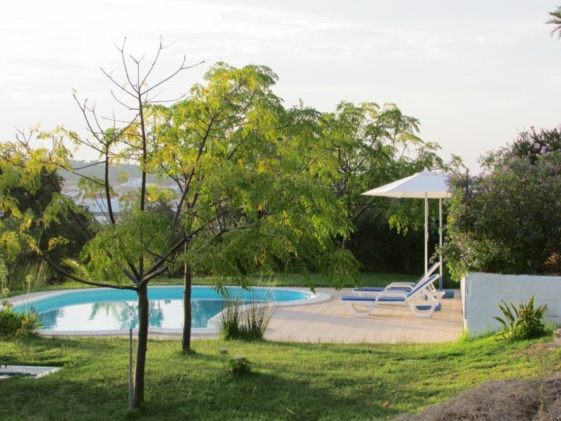 Privé zwembad en tuin.