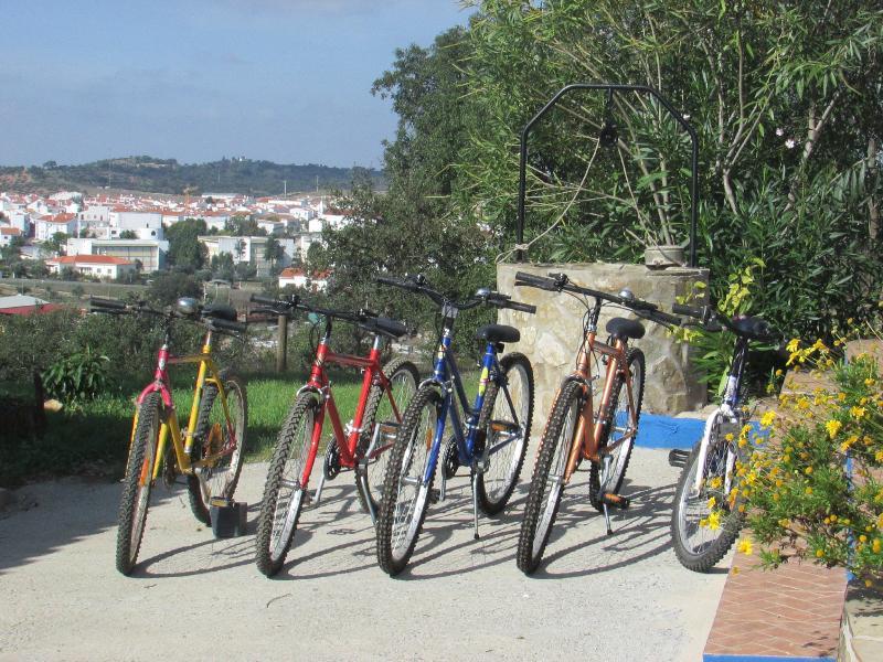 Gratis fietsen voor de gasten.