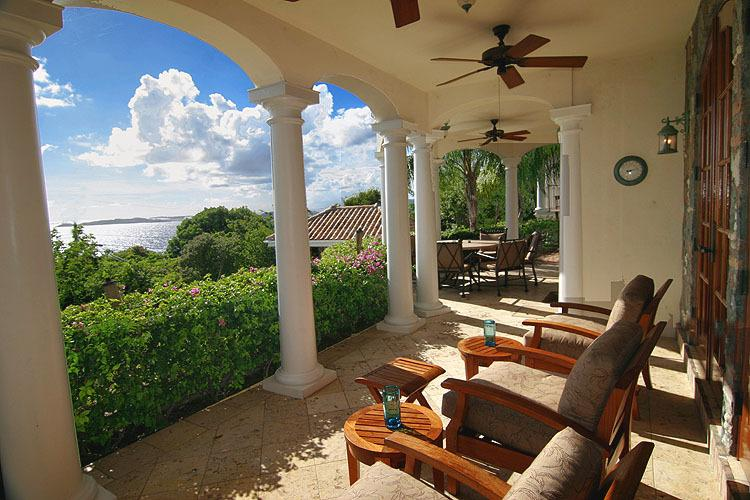 The beauty and magnificence of the Caribbean are yours to enjoy from the Main House veranda.