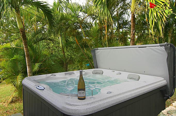 Celebrate your daily St. John adventures at the private Seaview Beach Cottage spa!