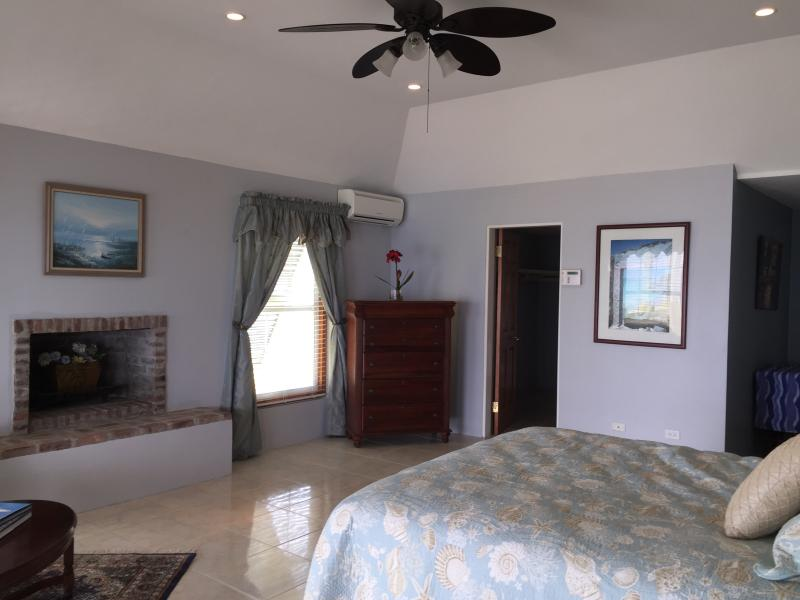 Master bedroom has beautiful ocean views and your own fireplace