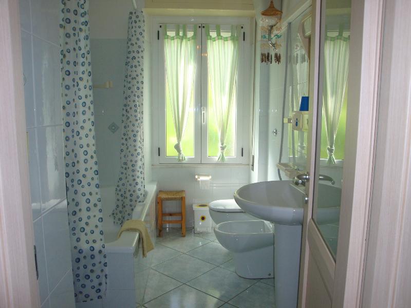 bathroom overlooking the private garden