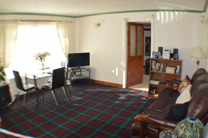 Sitting room with Lindsay tartan carpet