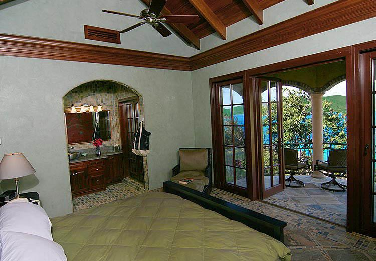 Cinnamon Breeze bedroom #3, with king bed, on the upper level adjacent to the master bedroom.