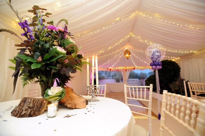 Amazing Marquee to seat 100 for that special celebration  day overlooking the River Severn .