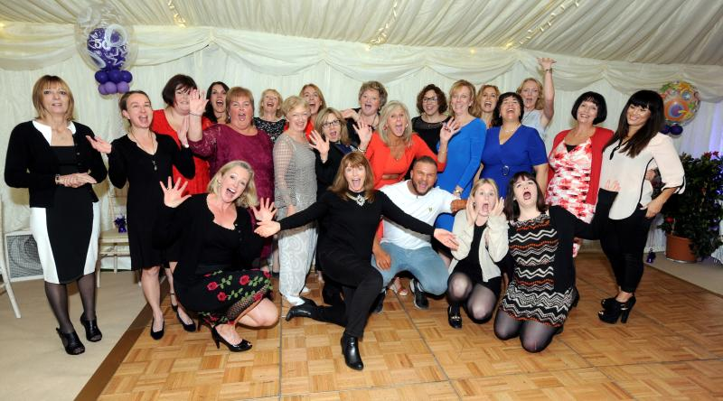 Guests having fun in Marquee for special 50th Birthday Party.