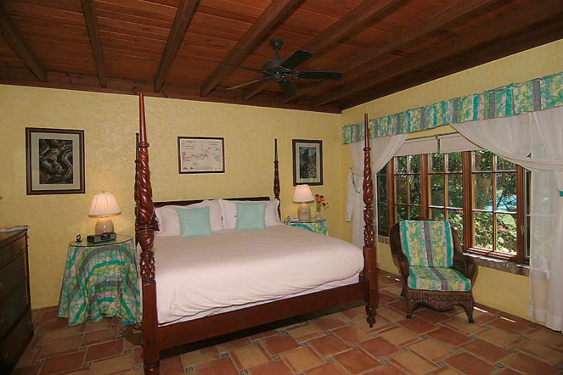 Bedroom 2 is located on the lower level of the Guest Pavilion adjacent to the 50 pool & spa.