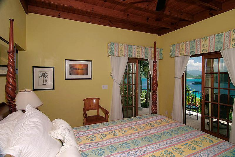 The Guest Cottage (BR 5) enjoys a magnificent Caribbean view all the way to Tortola, BVI.