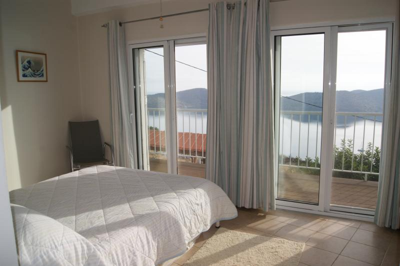 Bedroom 2 with balcony and more sea views