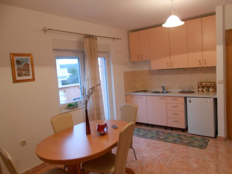 kitchen apartment with a balkony