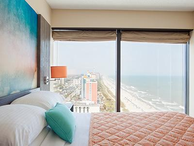 breath taking views from the bed room