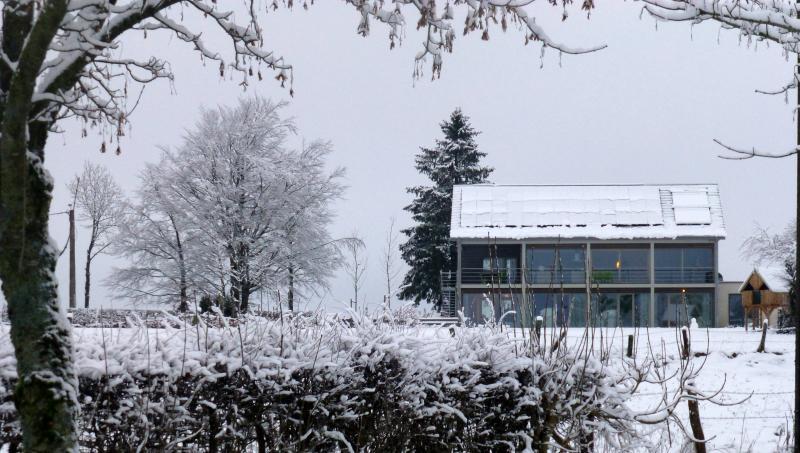 Zicht op Silberhütte vanuit de tuin