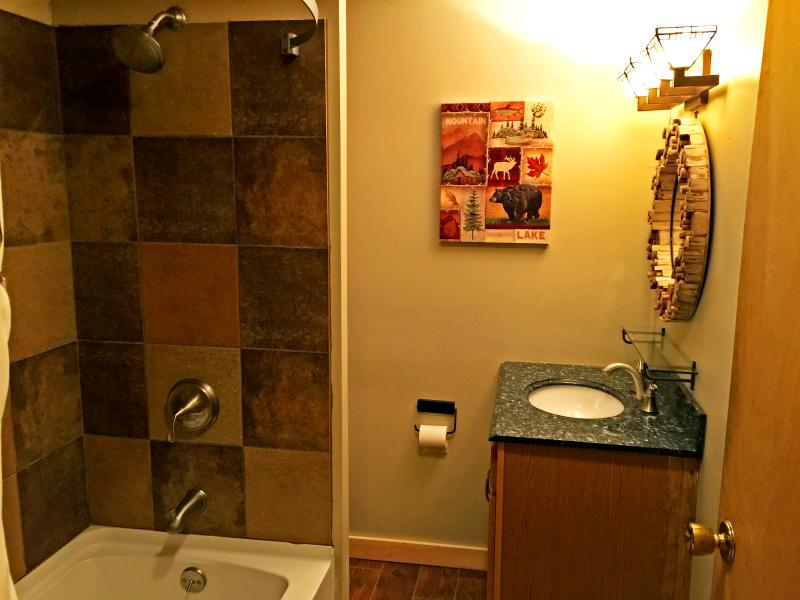 Newly renovated upper bathroom