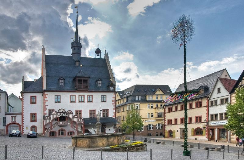 Pößneck Marktplatz