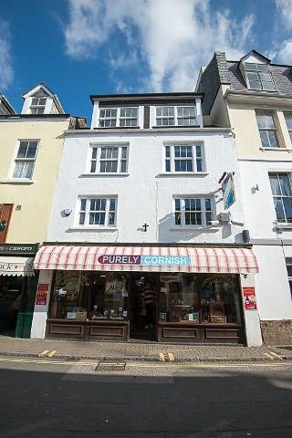 Sundew apartment is situated above 'Purely Cornish'.