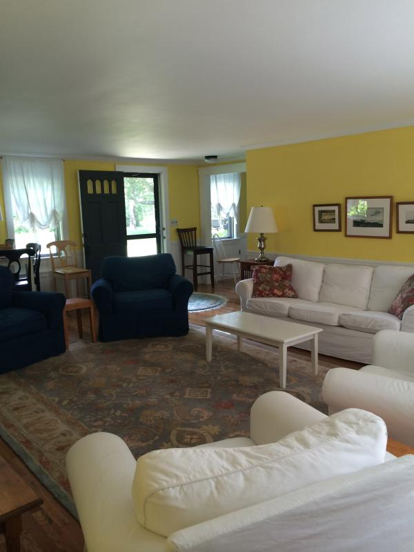 We have a very spacious Living Room, ideal for a large group,