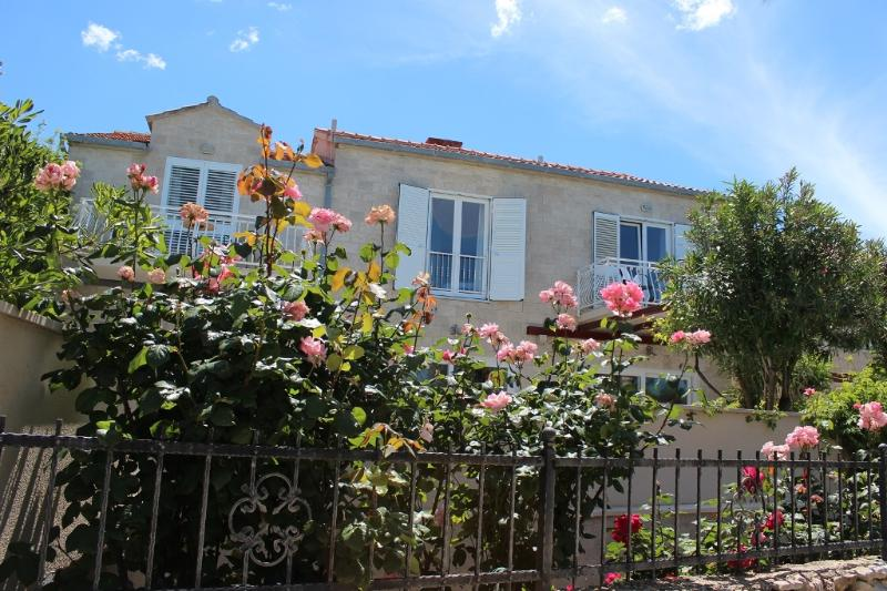 Roses are the most beautiful in May! Pool is heated and price is much lower than in high season!!