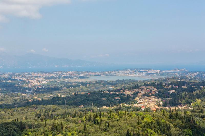 Palataki terrace view of Corfu Town
