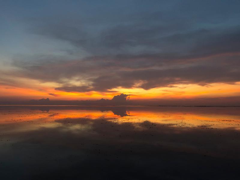 Villa Batujimbar - Sunset view at dusk
