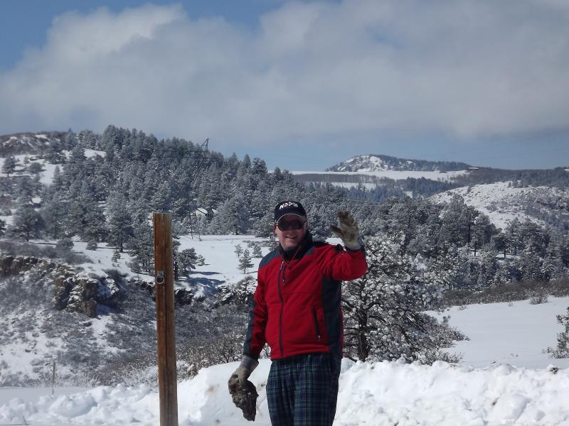 Hi!  Come and ski down the driveway!