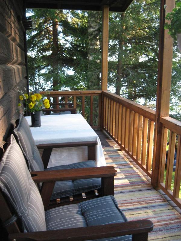 Terrasse, sauna au bord du lac