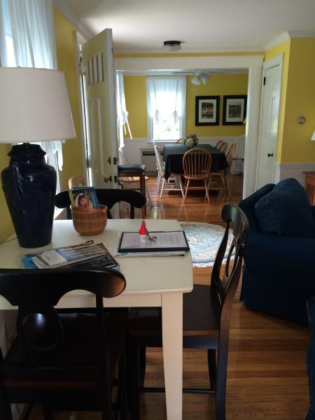 From the living room  to the dining room