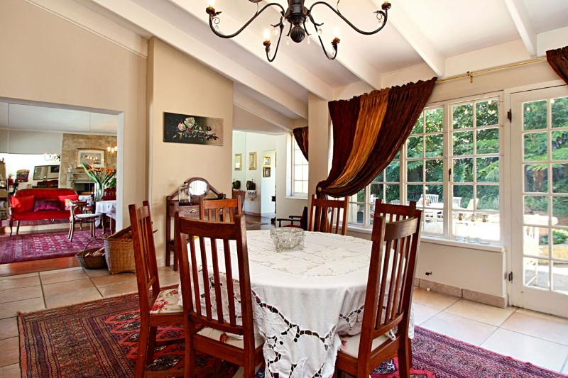 Dining room with french doors to outside courtyard