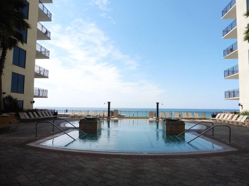 Infinity Pool on the 4th floor with amazing view of the Gulf