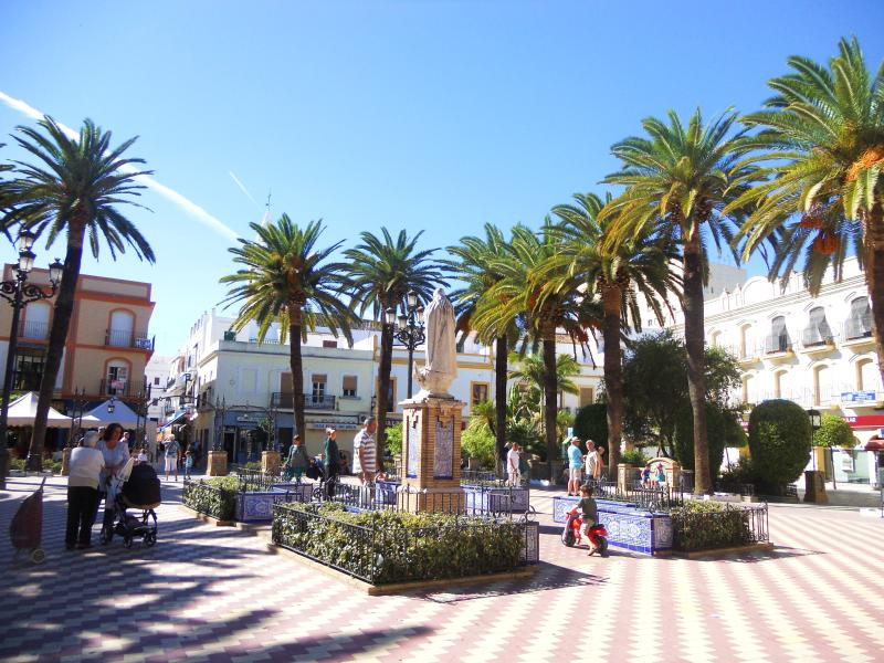 One of the squares in Ayamonte just 20 mins drive from Isla Canela