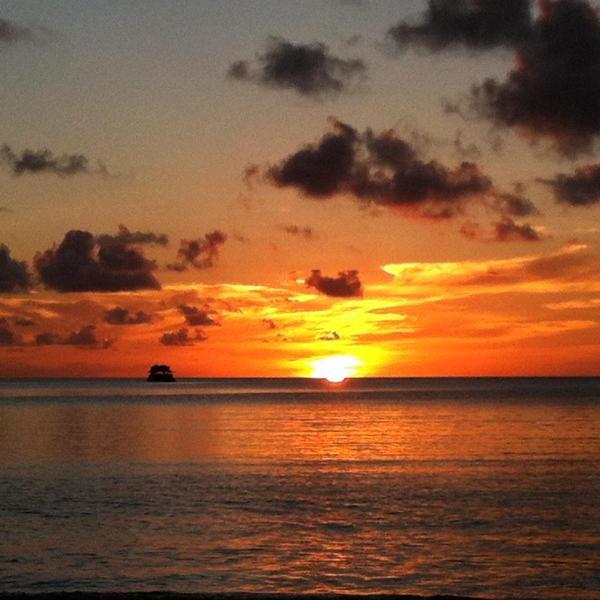 Sunset on Morne Rouge, BBC Beach