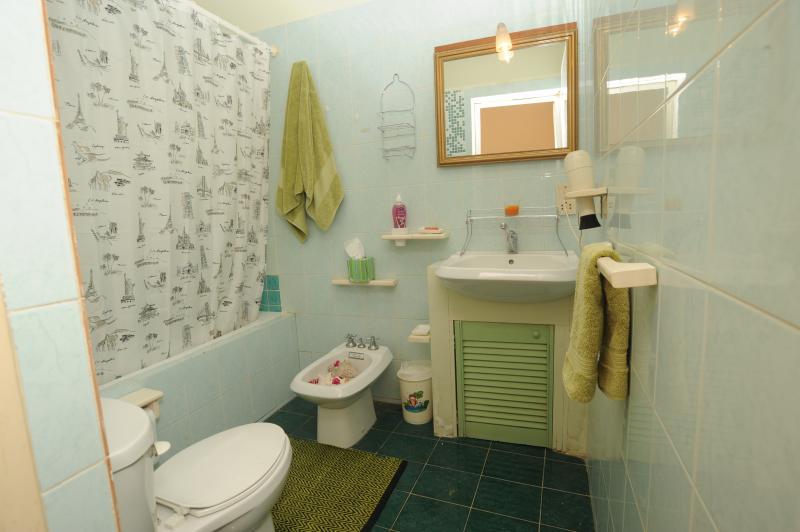 Full Bathroom with Bidet Sculpture