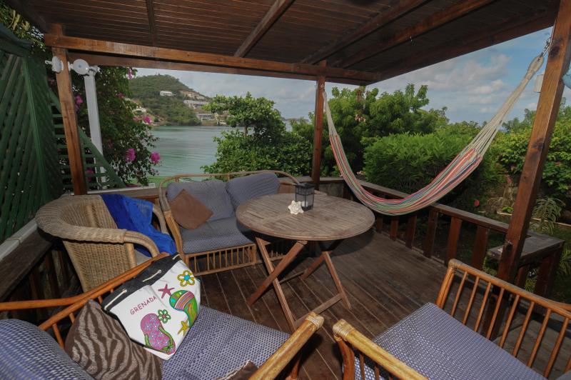 Veranda overlooking Morne Rouge, BBC Beach