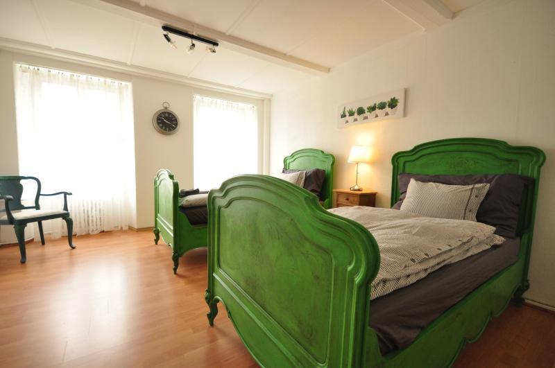 Large, light, Twin Bedroom