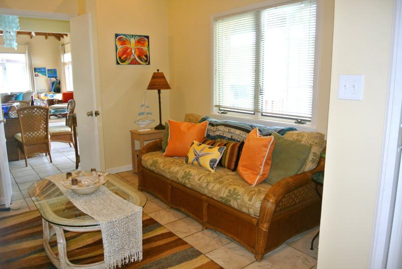 The bonus room off the Master has a queen sleeper & bunk beds. It can be closed off for privacy.