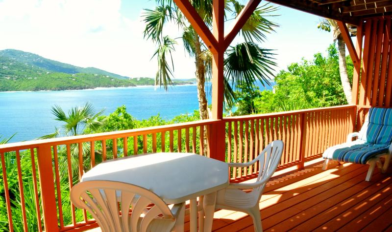 Private deck off of the downstairs Beach Suite