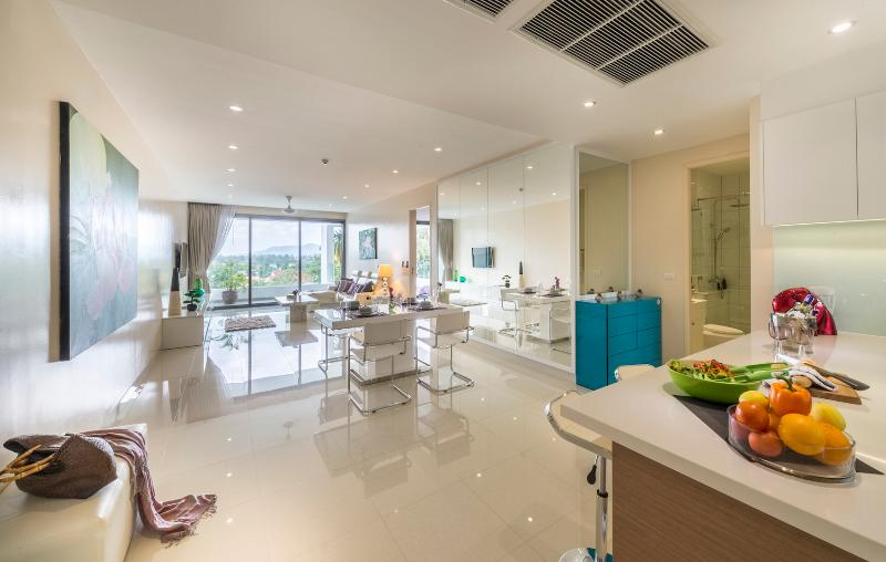 With easy access to the spacious balcony, relaxing at our vacation rental in Phuket will be easy.